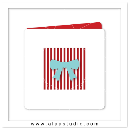 Strips Ribbon Card