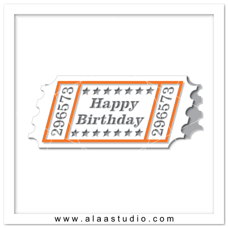 Birthday Ticket Card
