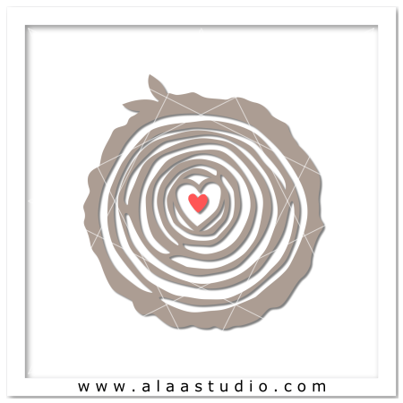 Tree rings love cut out