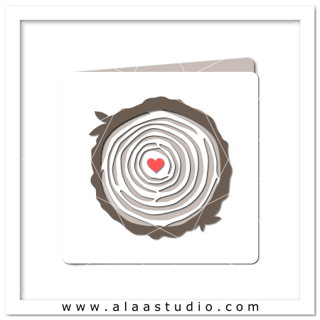 Tree rings love card