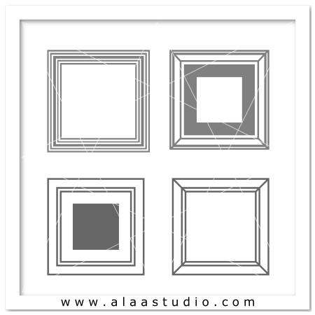 Outline squares frames