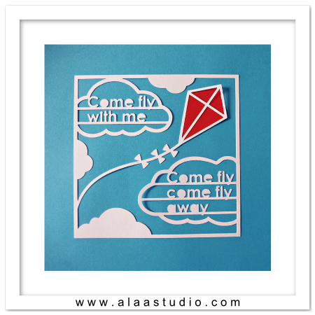 Come Fly Cut out poster