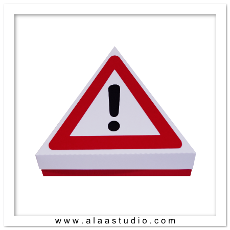 Warning Sign Triangle Box