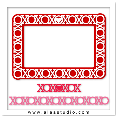 XOXO love frame & borders