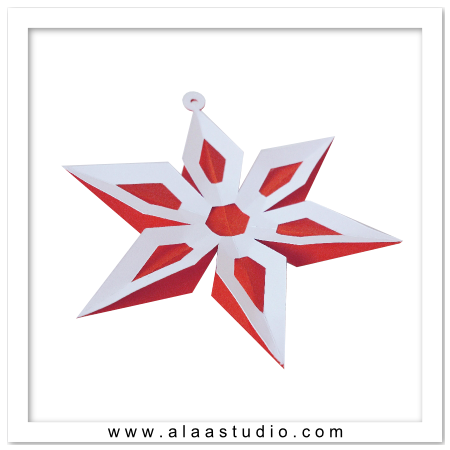 3D Star flower ornament
