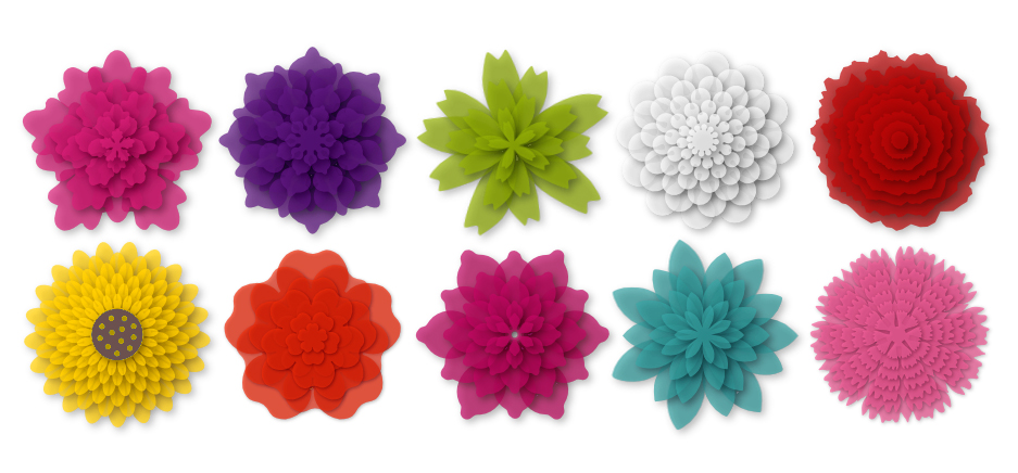 3D Layered flowers