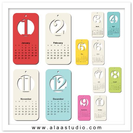 2013 Cut out calendar