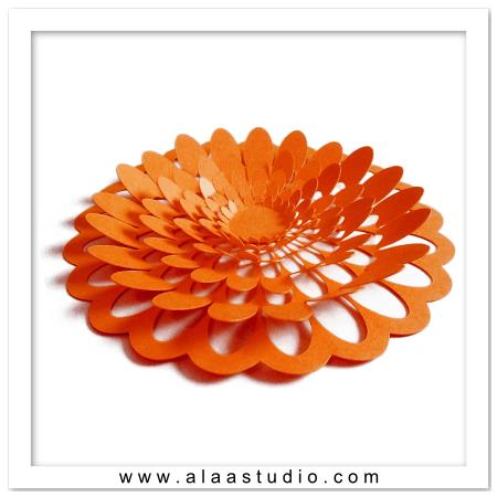 3D Large pop out flower 3