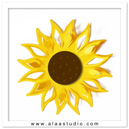 3D Large pop out sunflower