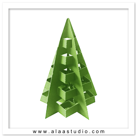 3D Pop out decor tree 1