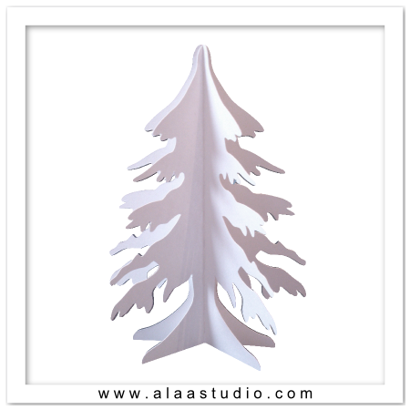 3D Winter snow tree