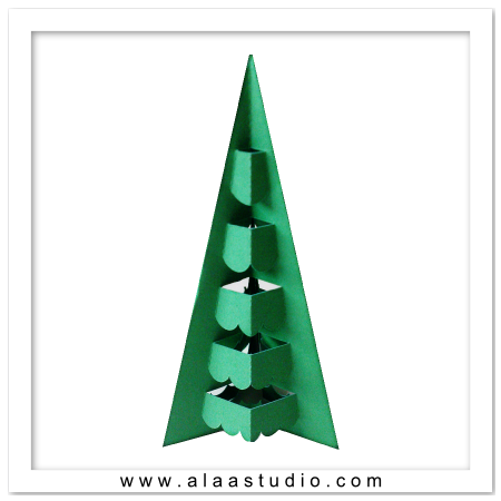 3D Pop out decor tree 2