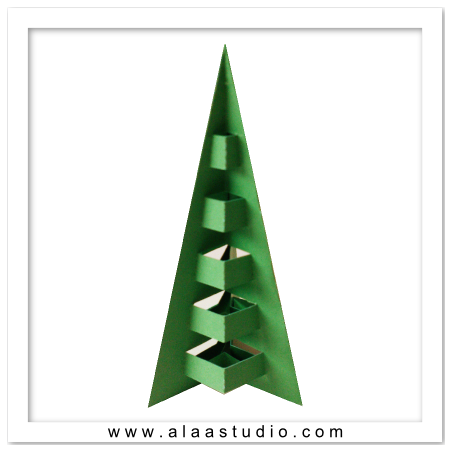 3D Pop out decor tree 4