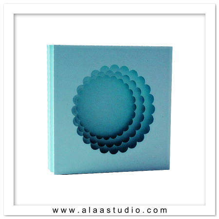 Scalloped circle shadow box