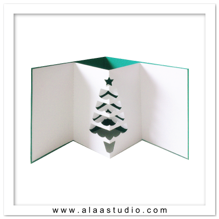 Pop out tree card 2