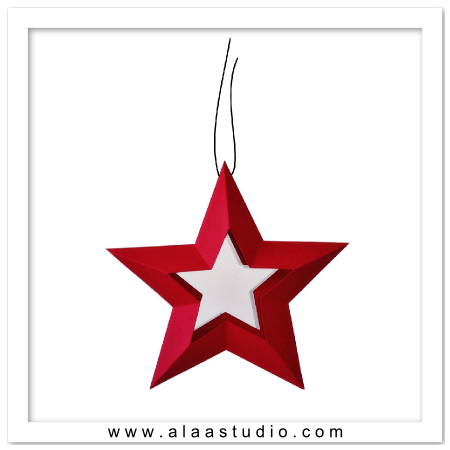 3D Hollow hanging star