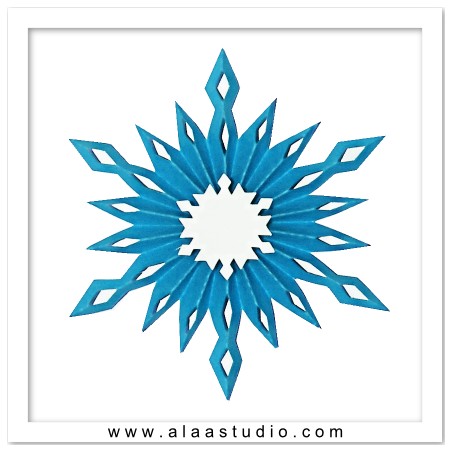 3D Pleated snowflake 2