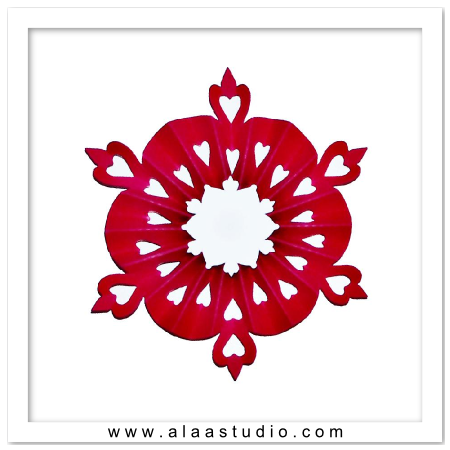 3D Pleated snowflake 3