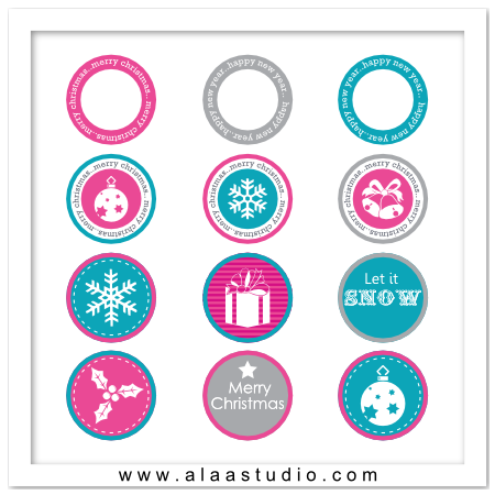 P&C Christmas circles tags 1
