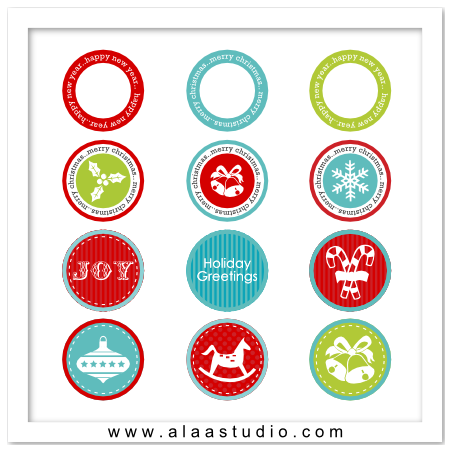 P&C Christmas circles tags 2