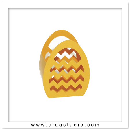 Chevrons egg basket