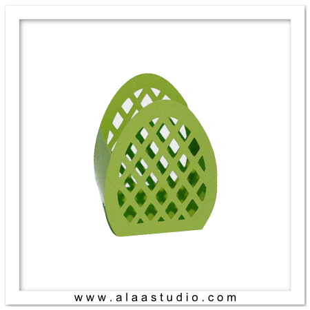 Lattice egg basket