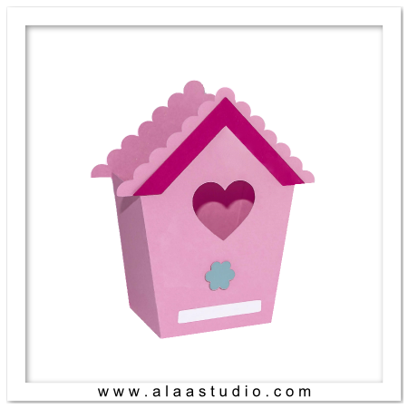 3D Bird house bag 1