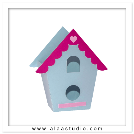 3D Bird house bag 2