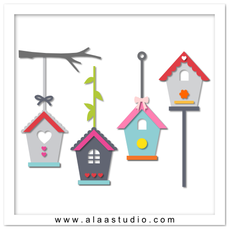 Bird houses set