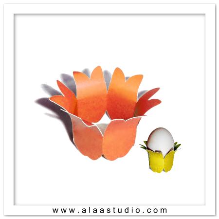 Floral egg holder