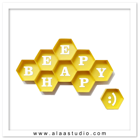 3D Beehive honeycomb frames