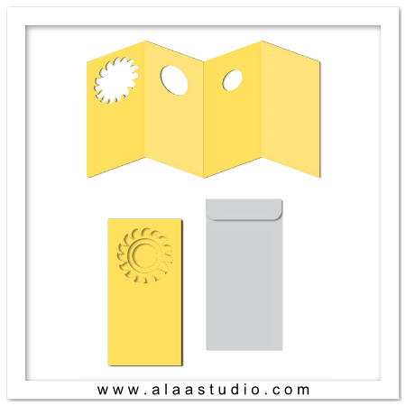 Accordion sun windows card w envelope