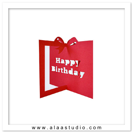 3D Birthday gift shaped card