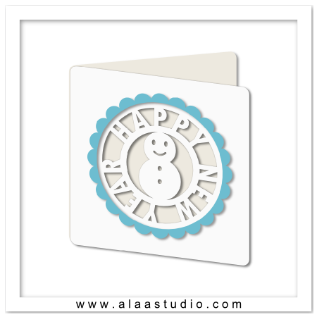 Snowman holiday cutout card