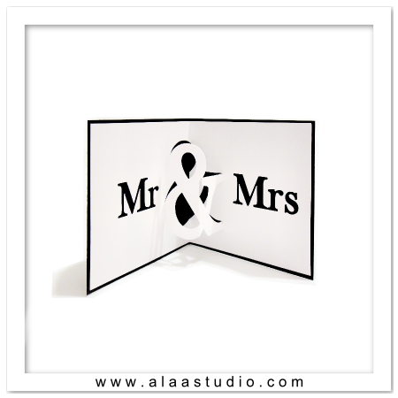 Mr & Mrs Pop out card