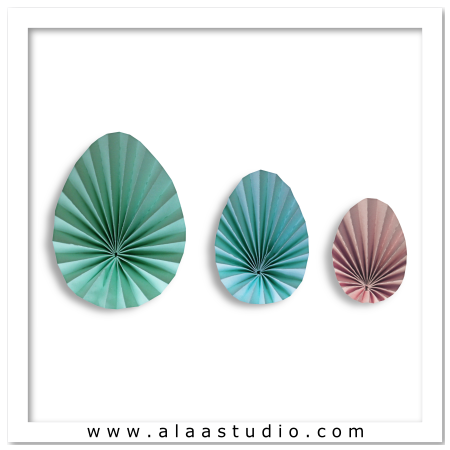 3D Pleated egg set