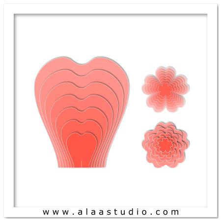 3D Giant rose petals 2