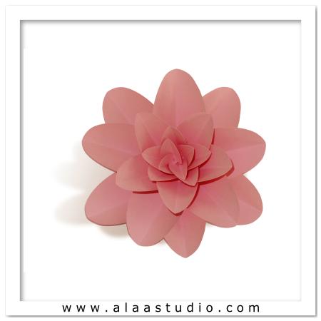 3D Large flower 3