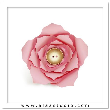 3D Large flower 4