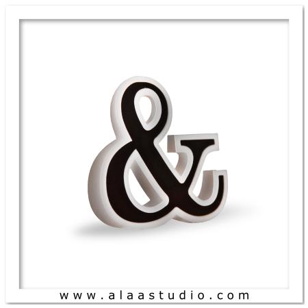 3D Flat fold Ampersand