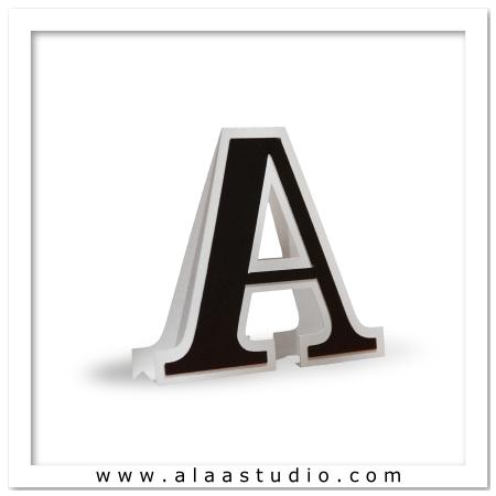 3D Flat fold letter A