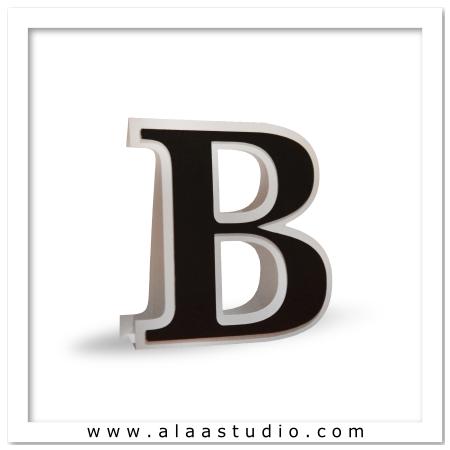 3D Flat fold letter B