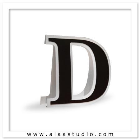 3D Flat fold letter D