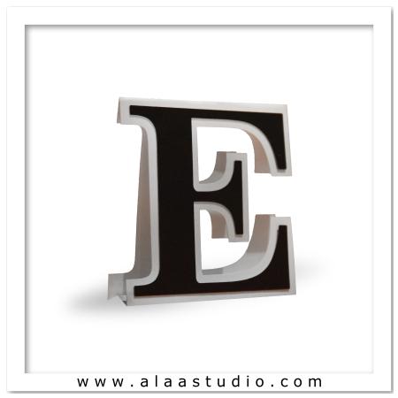 3D Flat fold letter E