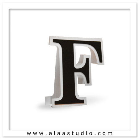 3D Flat fold letter F