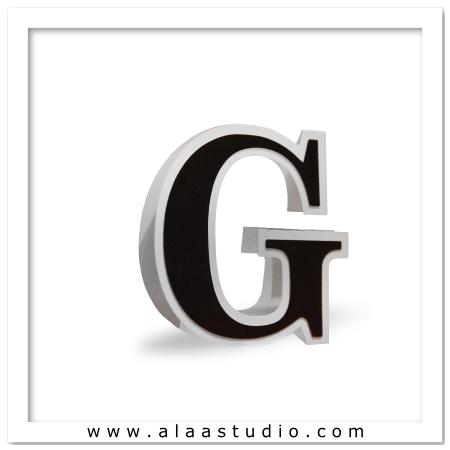 3D Flat fold letter G
