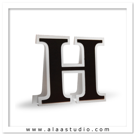 3D Flat fold letter H