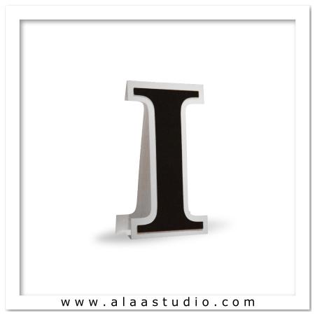 3D Flat fold letter I