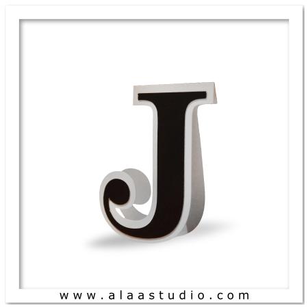 3D Flat fold letter J