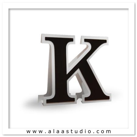 3D Flat fold letter K